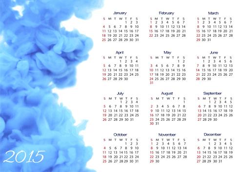 ink cloud calendar 2015