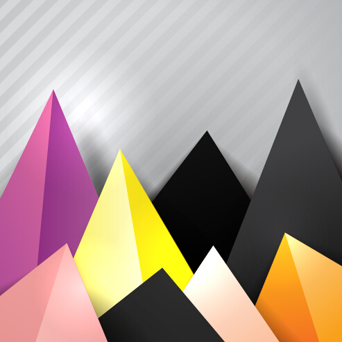 triangle embossment colored background