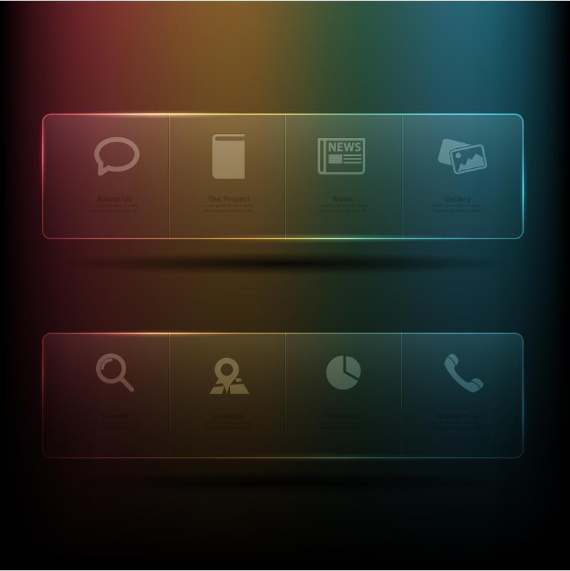 web transparent menu