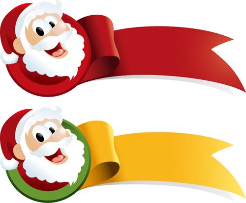 Christmas santa with ribbon vector welovesolo christmas santa with ribbon vector stopboris Gallery
