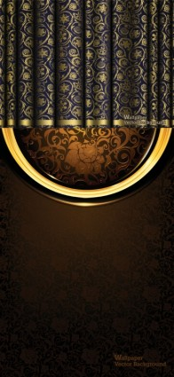 ornate curtain brocade background