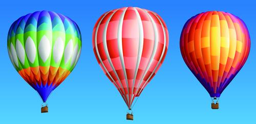 vector material Hot air balloon colorful balloons balloon