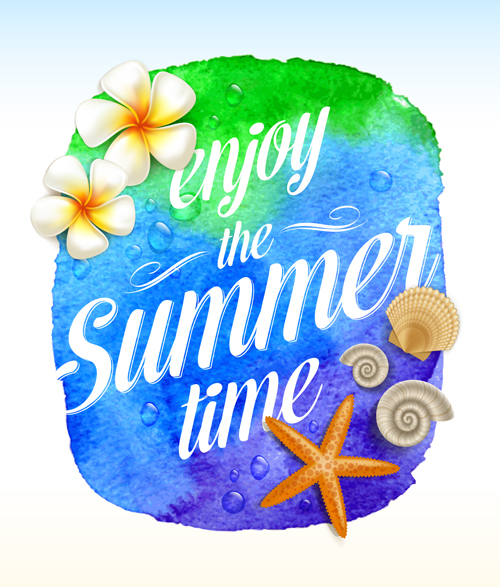 vector material time summer material Enjoy creative