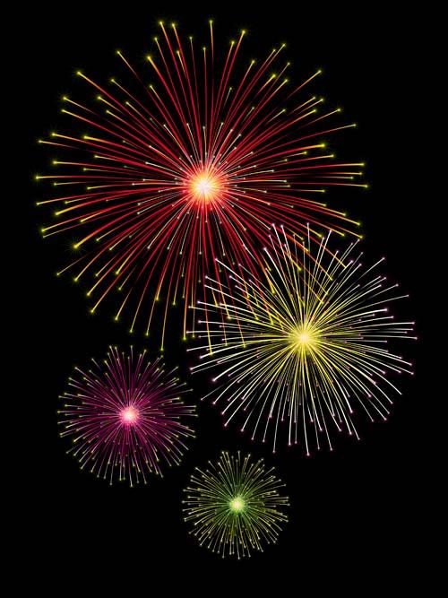 shining holiday Fireworks beautiful