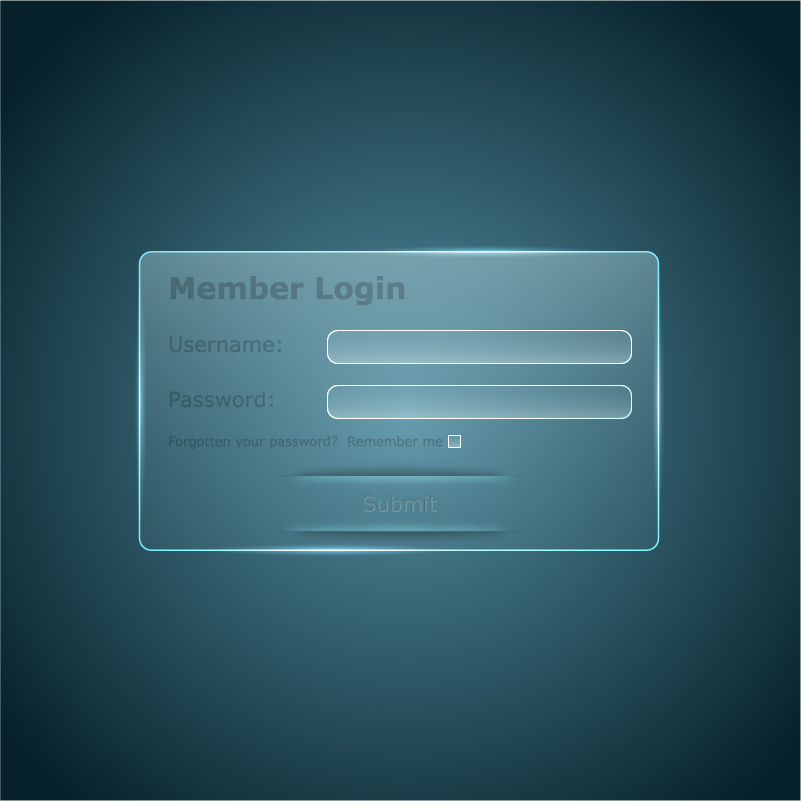transparent member login interface