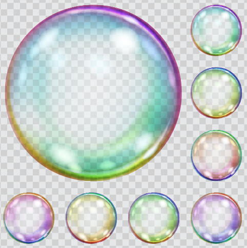 Transparent bubble colored vector illustration 02 - WeLoveSoLo