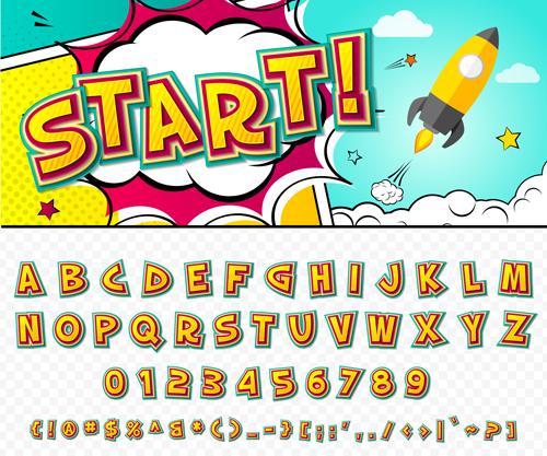 styles fonts design comic