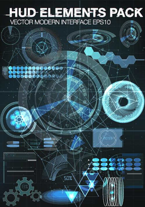 modern infographics hud elements