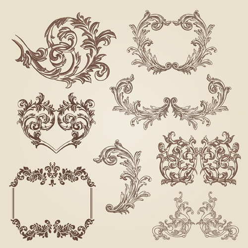 Vintage Decorative Borders And Frames With Corners Vector Welovesolo