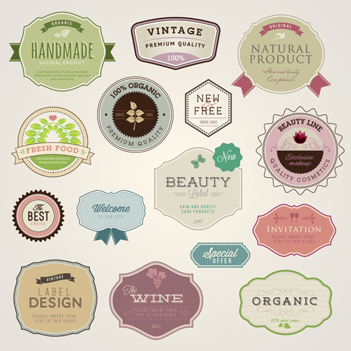 Wine with food invitation labels vintage vector welovesolo wine labels food stopboris Choice Image