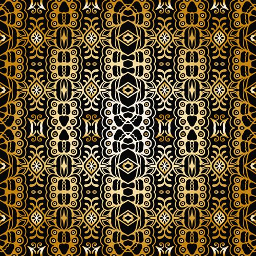 seamless pattern luxurious gold pattern background