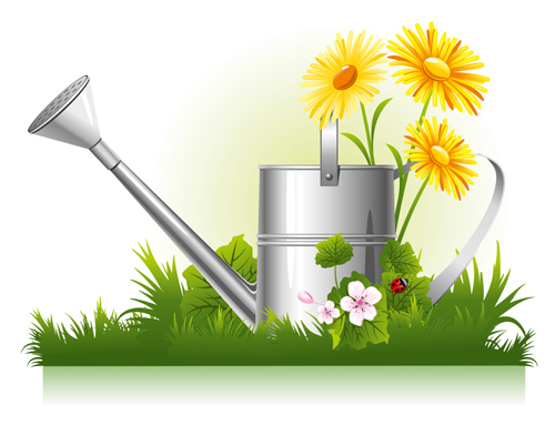 Wonderful Watering Vector Graphics Vector Graphic Garden