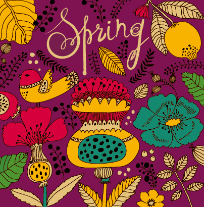 tropical spring pattern background pattern cartoon background