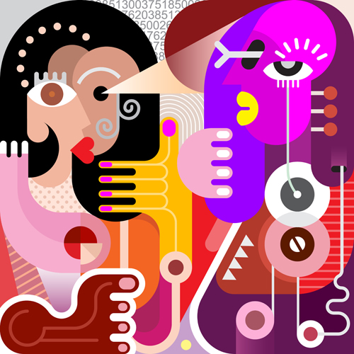 women portrait abstract