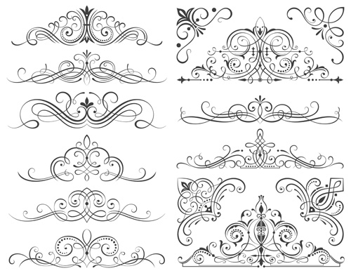 Calligraphic Frames And Scroll Elements Vector Welovesolo