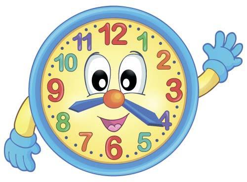 Cartoon Clock Baby Design Vector 02 Welovesolo