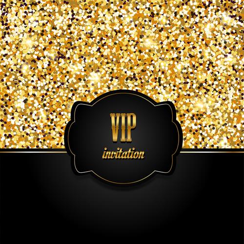 Golden with black vip invitation card background vector 04 welovesolo vip invitation stopboris Gallery