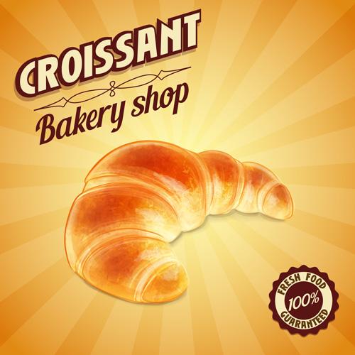 vintage poster croissant