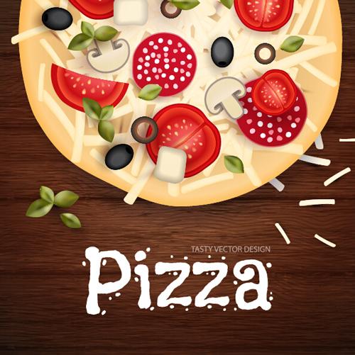vintage poster pizza