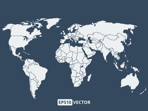 world simple map graphcs