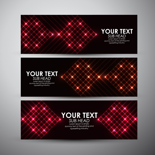 abstract light vectors banner 03 welovesolo