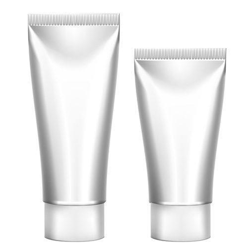 tube packages cosmetics blank