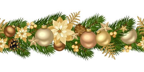 seamless decorative christmas border