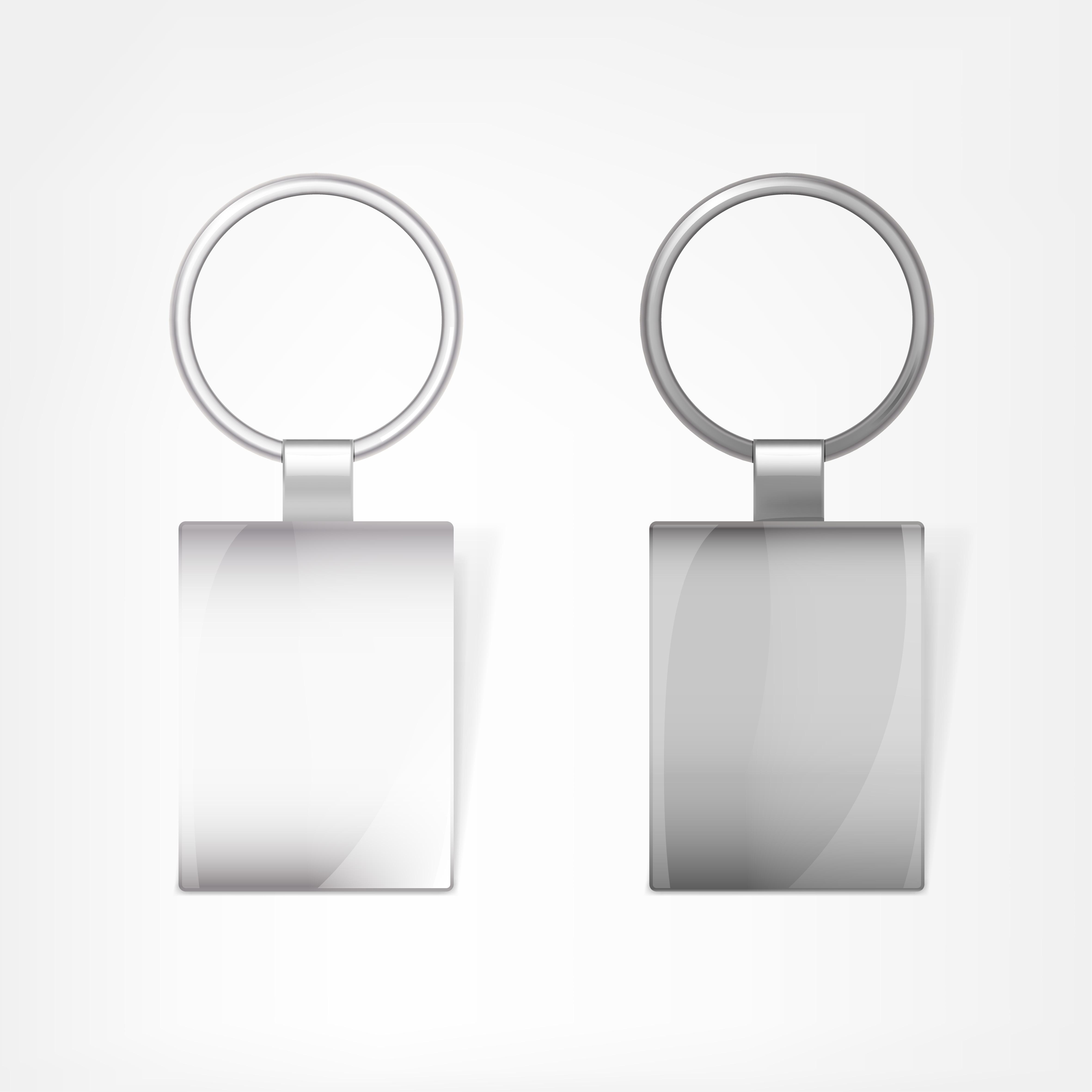 template shining keychain