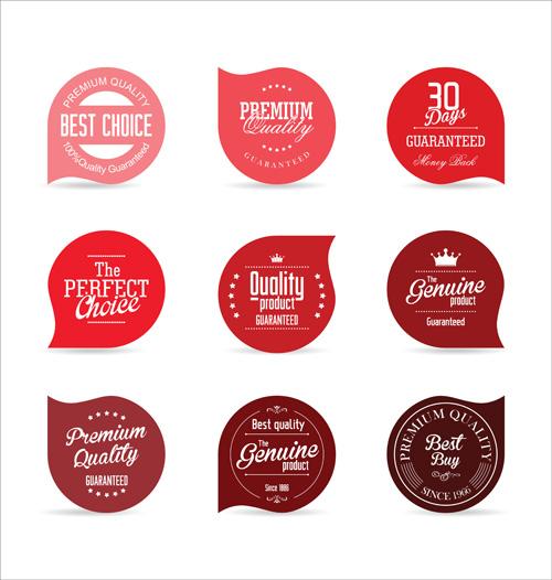 Retro font badges