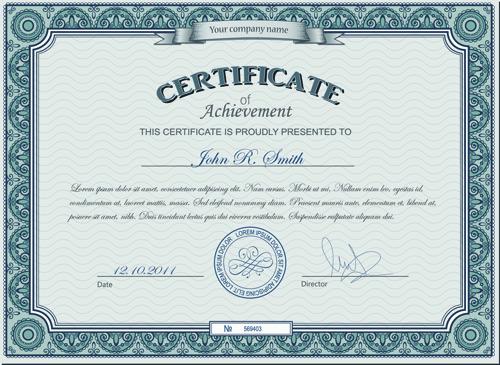 Best Certificates Design Vector Set 08  Certificate Design Format