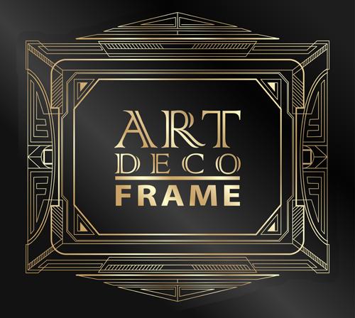 Retro Styles Art Deco Frames Vector Material 01 Welovesolo