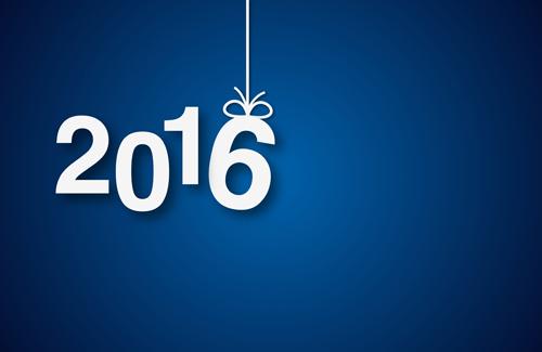 year simple new Inscription design 2016
