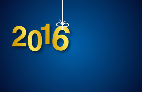 year simple new Inscription design 2016
