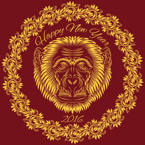 pattern monkey floral design 2016