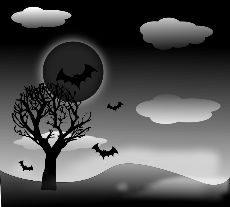 vector background night halloween background