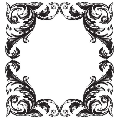 Classical baroque style frame vector design 01 - WeLoveSoLo