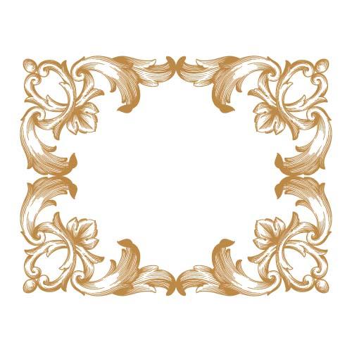 Classical baroque style frame vector design 04 - WeLoveSoLo