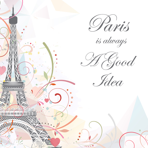 tower Eiffel background abstract