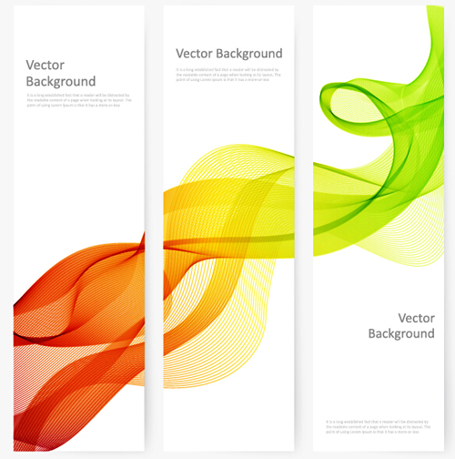 wavy smoke banners abstract