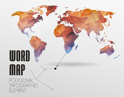World map with infographics creative vector 04 welovesolo world map infographics creative gumiabroncs Choice Image