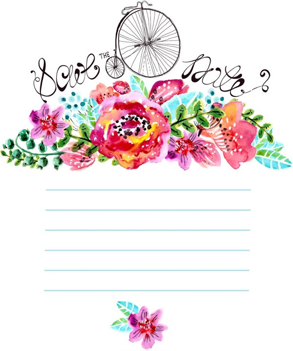 watercolor notebook floral decorations