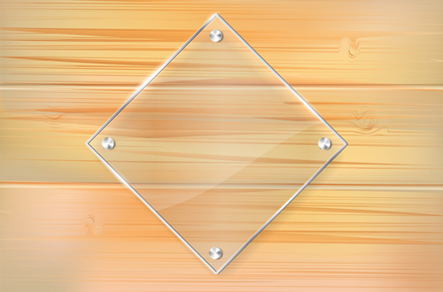 db9426651460 Glass frame with wood textures background vector 01 - WeLoveSoLo