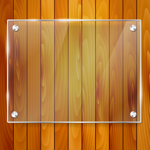 c8a9d81bcc6f Glass frame with wood textures background vector 02 - WeLoveSoLo