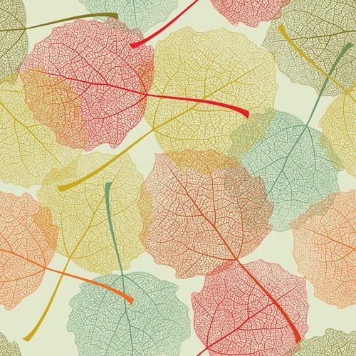 seamless pattern autumn leaves autumn