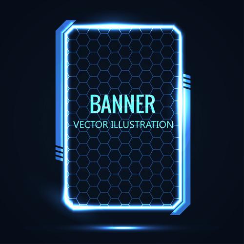 futuristic concept banner