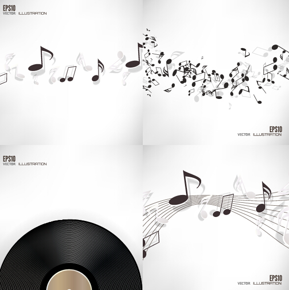 note music disc background