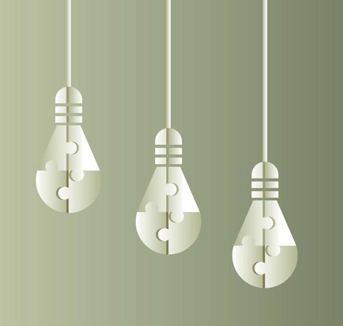 lamp Idea creative business template business
