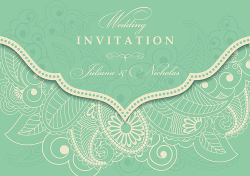 Vintage Style vintage style invitation gray floral cards card