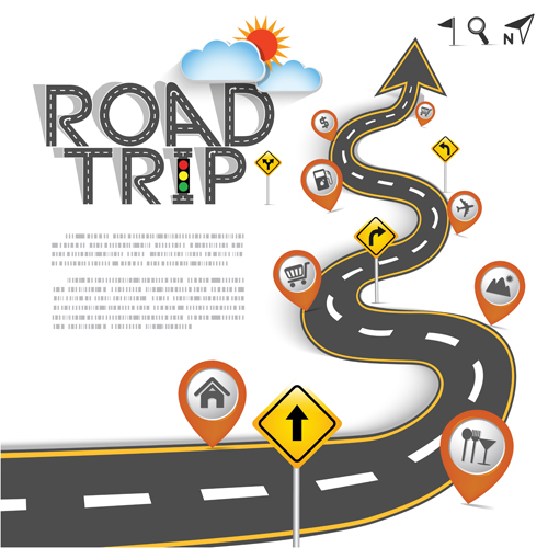 trip road background