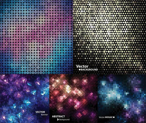 trend mosaic irregular grid fashion fantasy dot dazzling color beautiful background